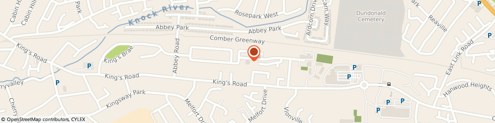 Route/map/directions to Tullycarnet Library, BT5 7GF Belfast, Kinross Avenue, Kings Road
