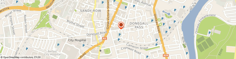 Route/map/directions to Sun Kee, BT7 1DQ Belfast, 43-47 Donegall Pass
