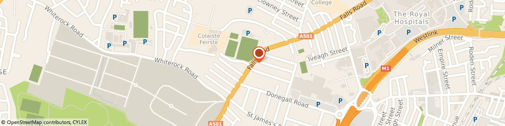 Route/map/directions to Sinn Fein Prisoner Of War Department, BT12 4PD Belfast, 53 Falls Road