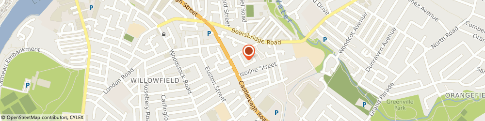 Route/map/directions to The Modern Art Gallery, BT5 5FR Belfast, 92 CASTLEREAGH ROAD