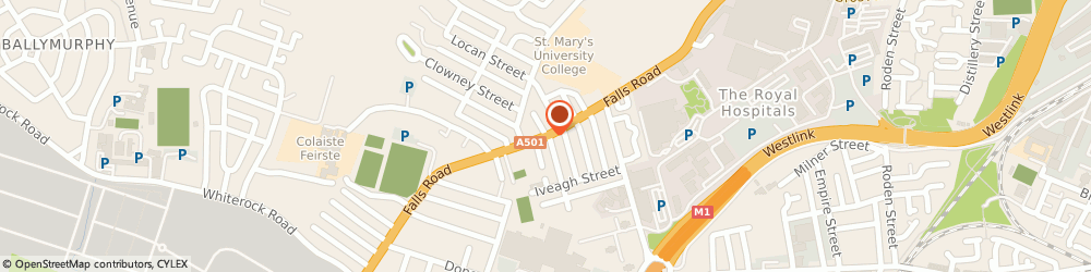 Route/map/directions to D.d. Eyewear, BT11 9AE Belfast, UNIT 22/KENNEDY CENTRE, FALLS ROAD