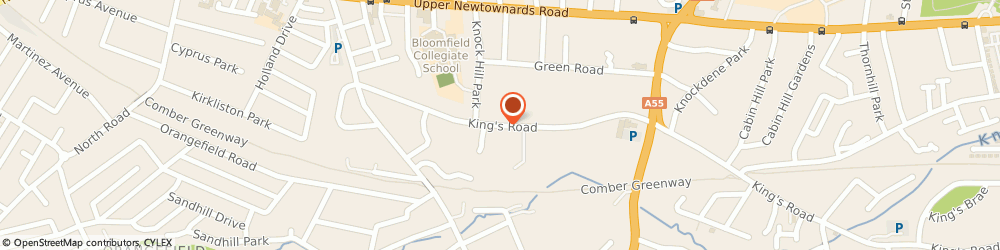 Route/map/directions to A Walker, BT5 7BP Belfast, CHERRYVALLEY HEALTH CENTRE, KINGS SQUARE