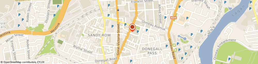 Route/map/directions to Drum King Holding, BT2 7HN Belfast, DUBLIN ROAD