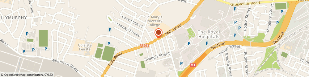 Route/map/directions to Kellys Gents Barbers, BT12 6FB Belfast, 261-263 falls Rd