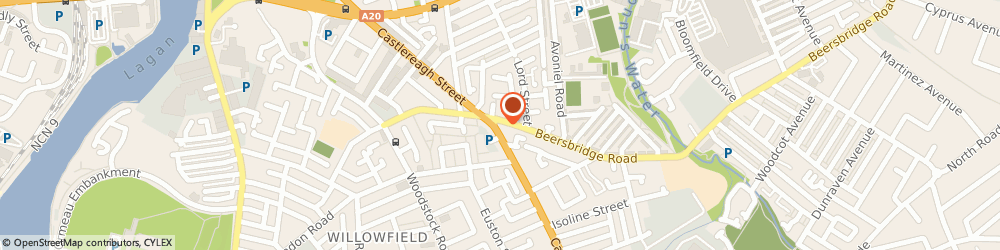 Route/map/directions to Loriya Literature & Publishing, BT5 5FS Belfast, 136, Castlereagh Rd, Apartment 6