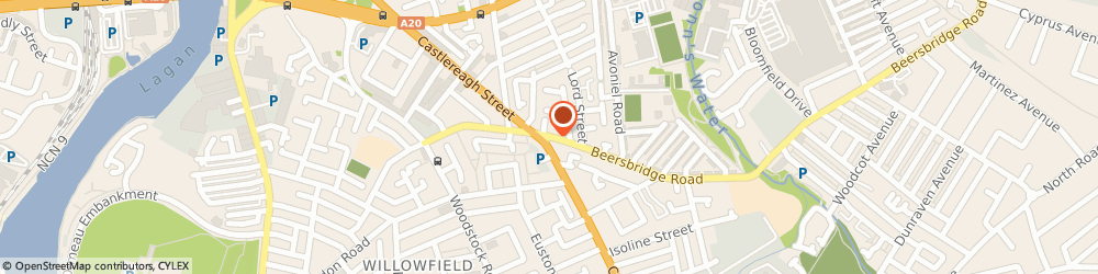 Route/map/directions to The Key Centre, BT5 4RW Belfast, 66 Beersbridge Road
