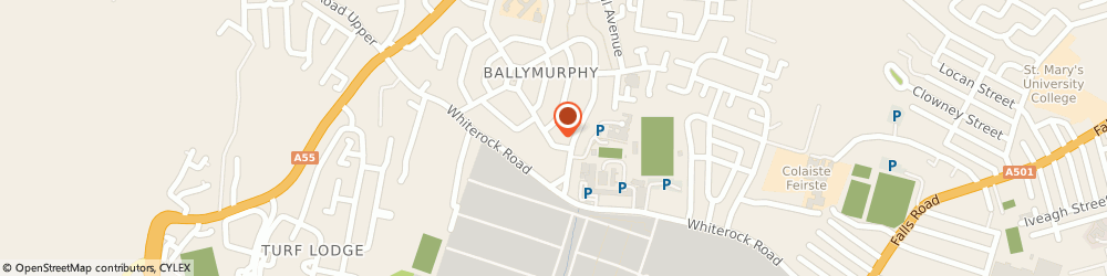 Route/map/directions to S C Electrical, BT12 7JP Belfast, 120 Ballymurphy Rd