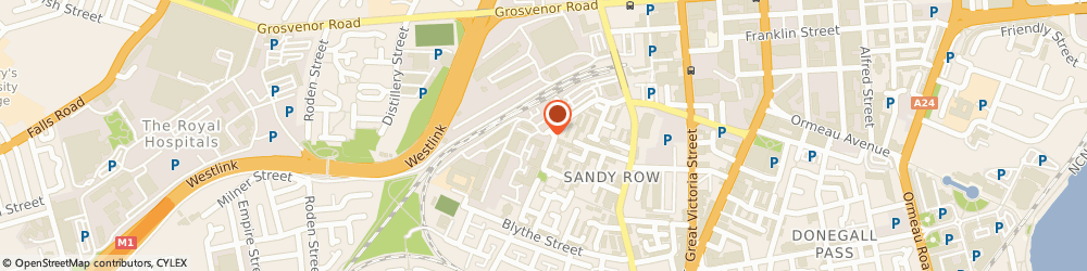 Route/map/directions to Asidua Holdings Limited, BT12 5GH Belfast, 10 WEAVERS COURT