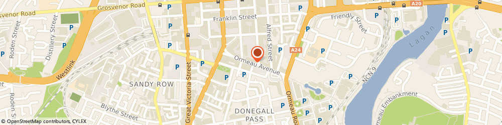 Route/map/directions to Insolvency Service, BT2 8NJ Belfast, 20 Ormeau Avenue