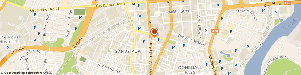 Route/map/directions to Inntro Bar, BT2 7AP Belfast, Great Victoria Street, Fisherwick Place