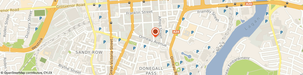 Route/map/directions to Chaka Travel Ltd, BT2 8HD Belfast, 17 Ormeau Ave