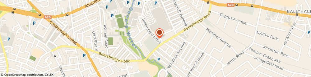 Route/map/directions to EVA CLEANING & COURIER SERVICES LTD, BT5 5NY Belfast, 12 Bloomfield Drive