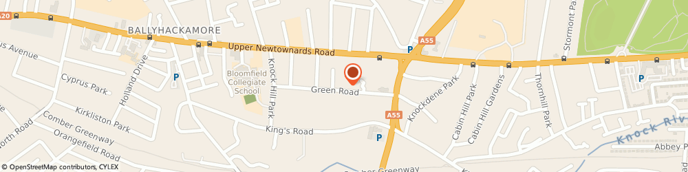 Route/map/directions to East End Electrical Ltd, BT5 6JA Belfast, 7 Green Road