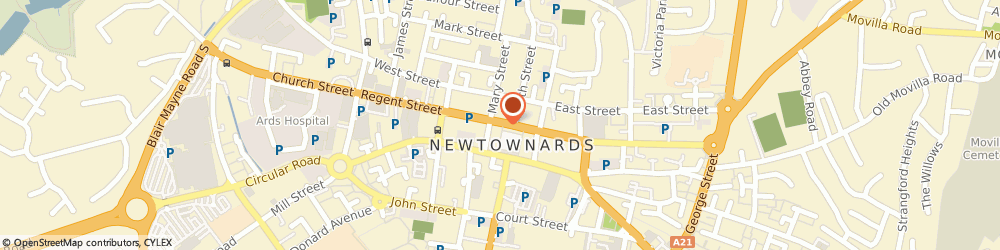 Route/map/directions to Cordners Limited, BT23 4DA Newtownards, 13 Conway Square