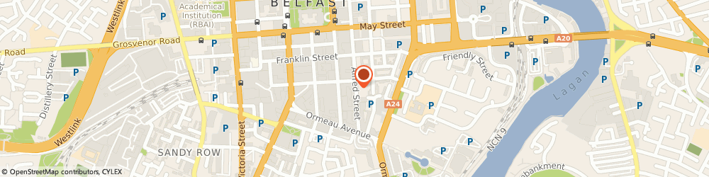 Route/map/directions to Digital Fix, BT2 8EA Belfast, 38 ALFRED ST