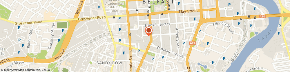 Route/map/directions to Evolve lifestyle and fitness, BT2 7GP Belfast, 4 Clarence St W