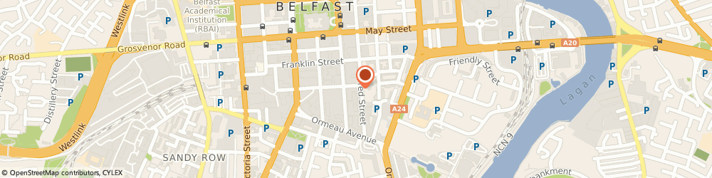Route/map/directions to Jnp Architects Belfast, BT2 8ED Belfast, 21 Alfred St, Alfred House