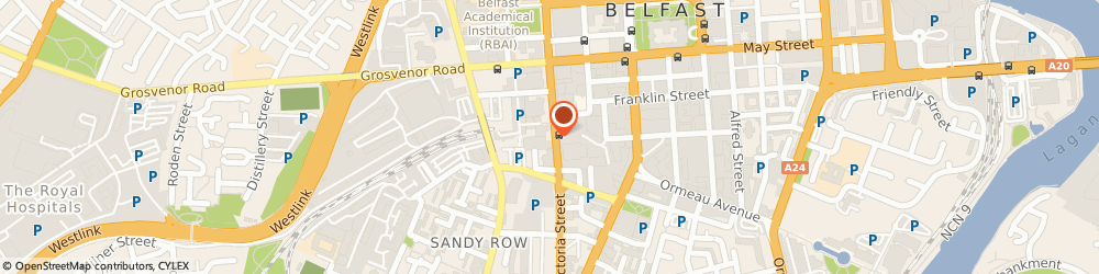 Route/map/directions to The Compensation Agency, BT2 7BN Belfast, 19-25 Great Victoria St, Millennium House