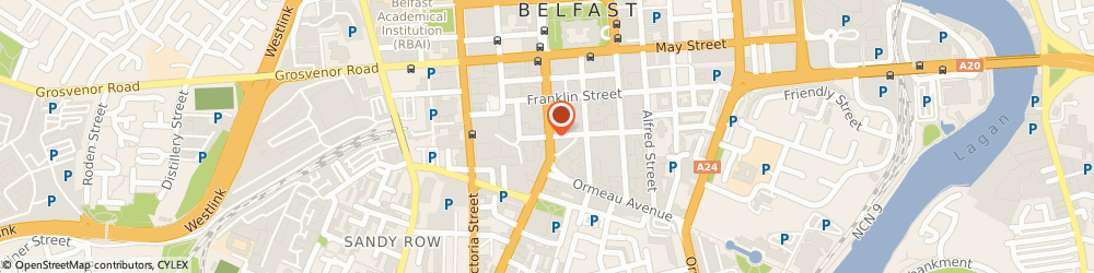 Route/map/directions to The Group Theatre, BT2 7FF Belfast, BEDFORD STREET
