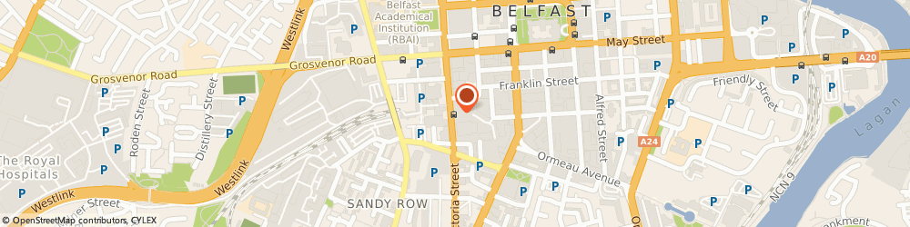Route/map/directions to HIGHWIRE PRESS LTD, BT2 7BB Belfast, 4Th Floor, Andras House, 60 Great Victoria Street