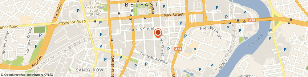 Route/map/directions to Charles Bell (1963) Limited, BT2 8FE Belfast, Titanic Suites, Adelaide Street