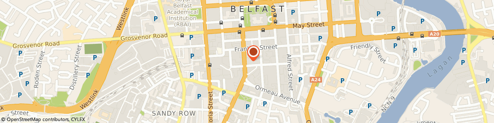 Route/map/directions to Northern Ireland Court Service, BT2 7FF Belfast, WINDSOR HOUSE, BEDFORD STREET