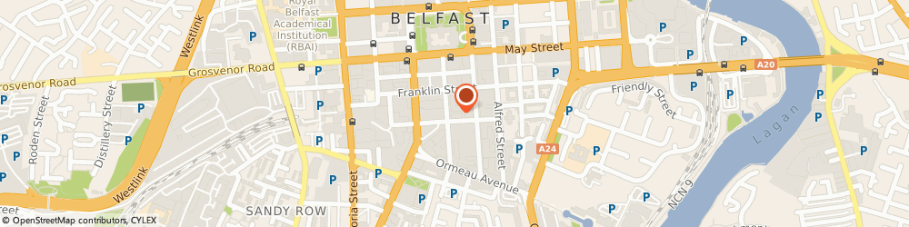 Route/map/directions to Rezara Properties Ltd, BT2 8BG Belfast, 24 Linenhall St
