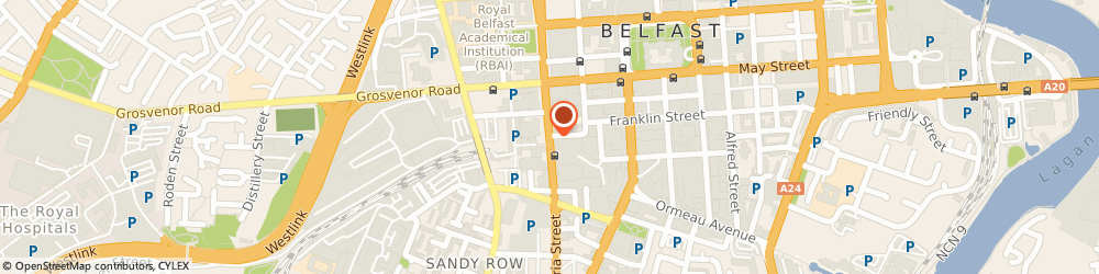 Route/map/directions to Luciano's Cafe Bar, BT2 7HR Belfast, Grand Opera House, 2-7, Great Victoria St