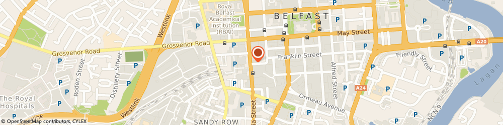 Route/map/directions to The Crown Bar, BT2 7BA Belfast, 46 Great Victoria Street
