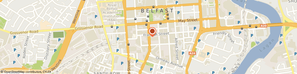 Route/map/directions to Mission Iq Limited, BT2 7FF Belfast, 36 BEDFORD STREET