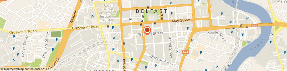 Route/map/directions to Ernst & Young, BT2 7DT Belfast, Bedford House, 16 Bedford Street