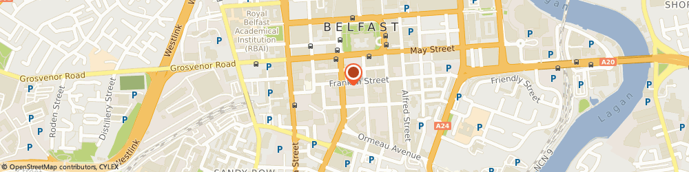 Route/map/directions to The Steensons, BT2 7FD Belfast, 16-22 Bedford Street