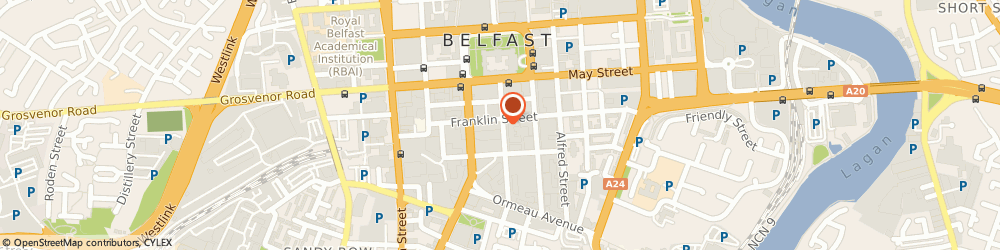 Route/map/directions to Central Electrical Supplies Ltd, BT2 8AB Belfast, 33-35 LINENHALL STREET