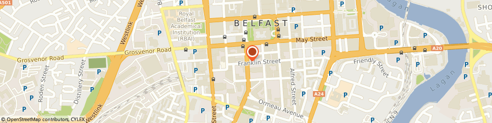 Route/map/directions to Craftworks, BT2 7FD Belfast, Bedford House, 16 Bedford Street