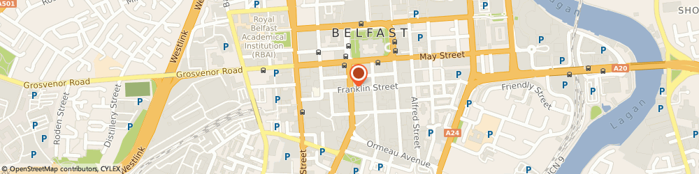 Route/map/directions to Ulster Insurance Services Ltd, BT2 7DX Belfast, Bedford House, Bedford Street