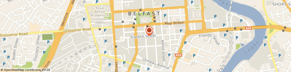 Route/map/directions to Northern Ireland Optometric Society, BT2 8AA Belfast, LINEN HALL STREET