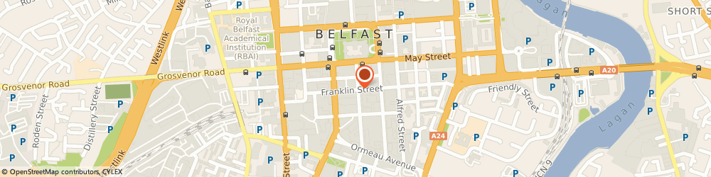 Route/map/directions to Snax, BT2 8AA Belfast, 19 Linenhall Street
