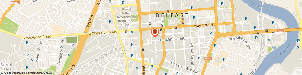 Route/map/directions to Belfast College Of Training & Education Ltd, BT2 7GE Belfast, FRANKLIN HOUSE, BRUNSWICK STREET