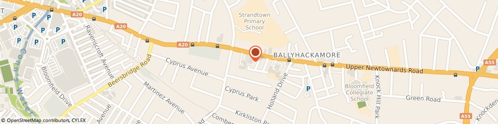 Route/map/directions to Mawhinney Family Butchers Ltd, BT4 3EU Belfast, FALCONER STEWART, 248-266 UPPER NEWOWNARDS ROAD