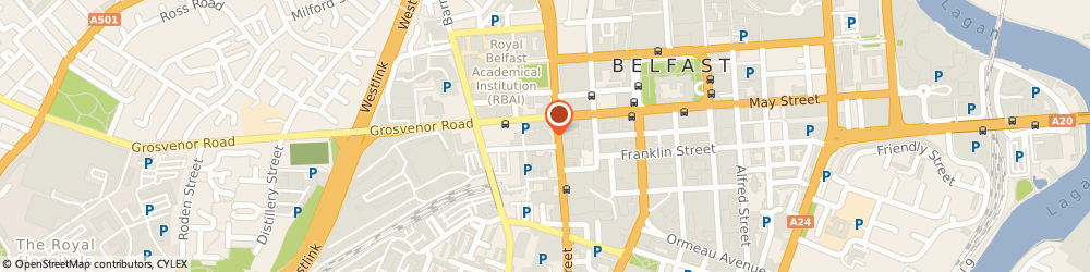 Route/map/directions to Northern Ireland Opera, BT2 7HR Belfast, Grand Opera House, Great Victoria Street