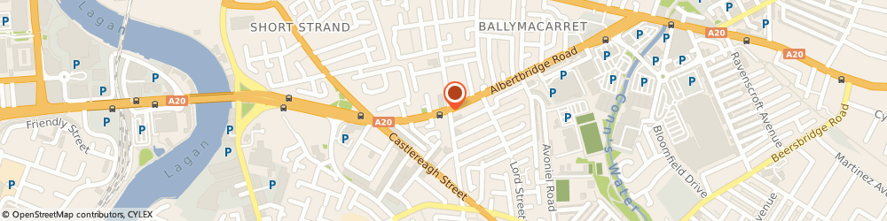 Route/map/directions to Ballymacarrett Credit Union Limited, BT5 4GS Belfast, 182 ALBERTBRIDGE ROAD