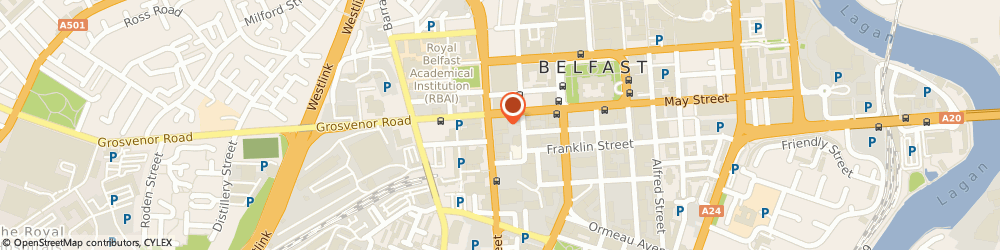 Route/map/directions to ARENA WIND DUNGORMAN LIMITED, BT2 7BA Belfast, Mkb 14-18 Great Victoria Street
