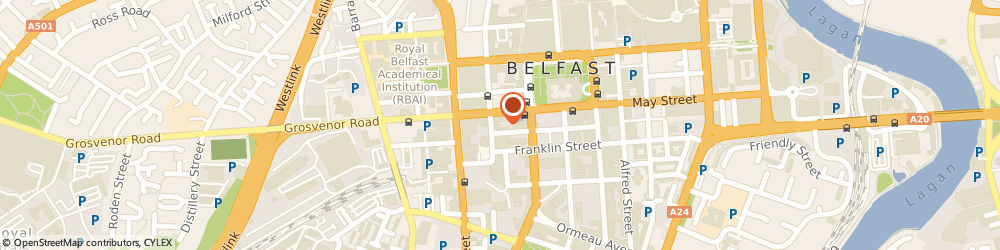Route/map/directions to Etain Ltd, BT2 7GA Belfast, 21 James St S