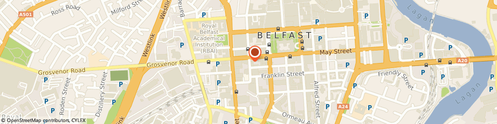 Route/map/directions to Jeremy Gardner Associates Belfast Ltd, BT12 5GE Belfast, HOWARD HOUSE, 1-3 BRUNSWICK STREET