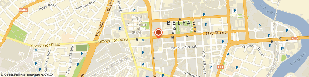 Route/map/directions to Pink Inc Web, BT1 6PJ Belfast, 58 Howard St