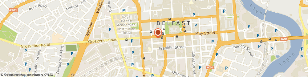 Route/map/directions to Michael Deanes Restaurant, BT1 6PF Belfast, 36-40 Howard Street