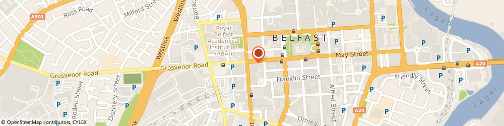 Route/map/directions to Euronet, BT12 6PJ Belfast, 58 HOWARD ST, THE MERRION BUSINESS CENTRE