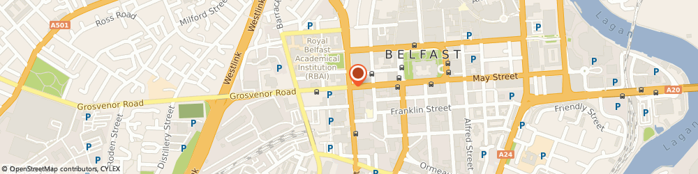 Route/map/directions to Limo Hire Belfast, BT1 6PL Belfast, Office 8, 58 Howard Street
