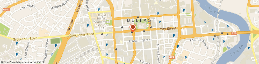 Route/map/directions to Prudential Intermediary Division, BT1 6PA Belfast, 16 Howard Street