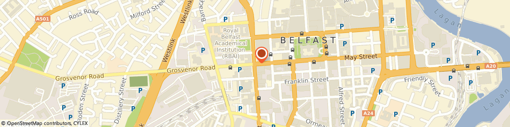 Route/map/directions to Laposa Ltd, BT1 6PJ Belfast, 58 Howard St